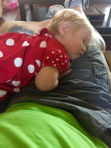 Nap time on daddy